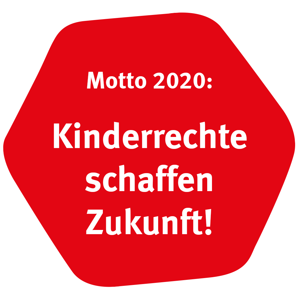 Motto Sechseck rot